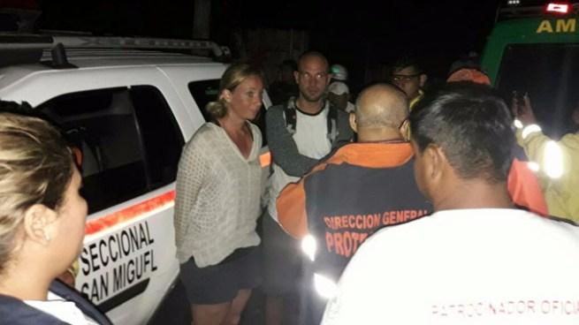 Rescatan a turistas alemanes que se habían extraviado en el volcán de San Miguel