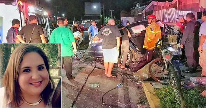 Muere mujer que sufrió aparatoso accidente de tránsito en la ciudad de San Miguel