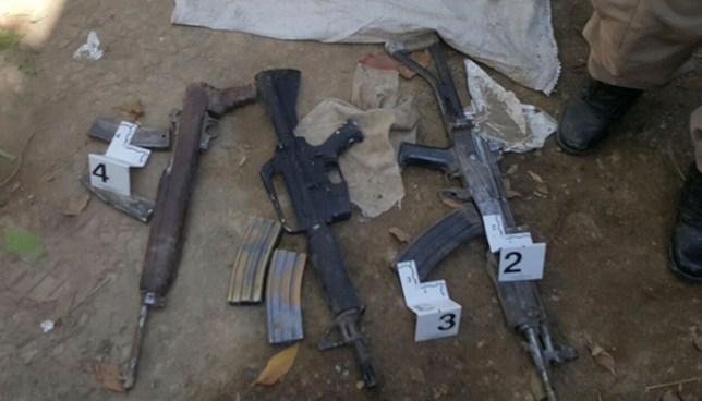 PNC de San Salvador incauta armas enterradas que eran custodiadas por una mujer
