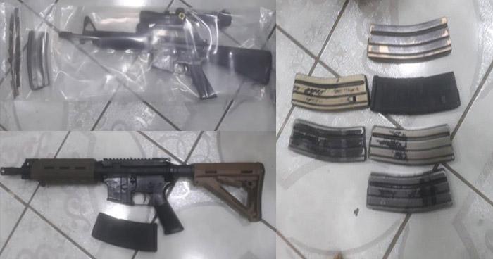 Policía incauta armas de fuego y un vehículo en una vivienda en Usulután