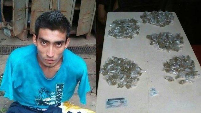 Capturan a sujeto con 230 porciones de marihuana en Sonsonate