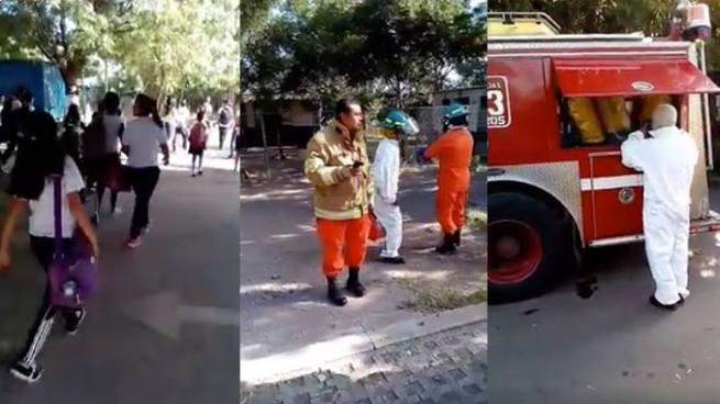 Evacúan centro escolar en San Miguel por ataque de abejas
