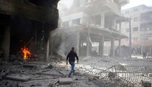 Bombardeos en Siria deja cerca de 200 civiles muertos, entre ellos 60 niños