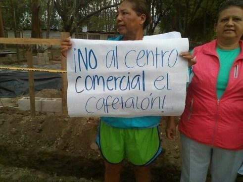 Tecleños dicen ¡NO! a la construcción dentro del Cafetalón