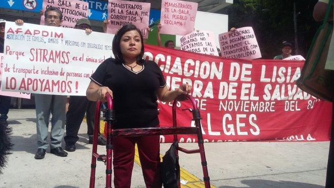 Personas con discapacidad se pronuncian contra de la medida cautelar al SITRAMSS