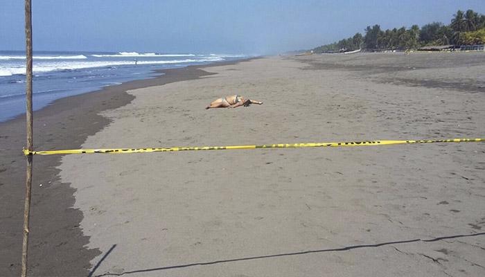Encuentran el cuerpo sin vida de una mujer en una playa de Acajutla