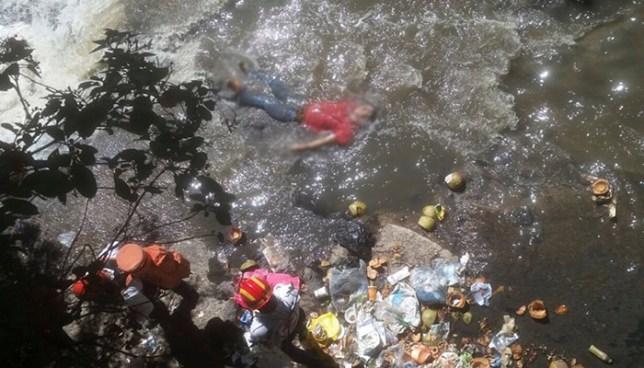 Hallan el cadáver de un hombre flotando en un río cercano al mercado San Miguelito