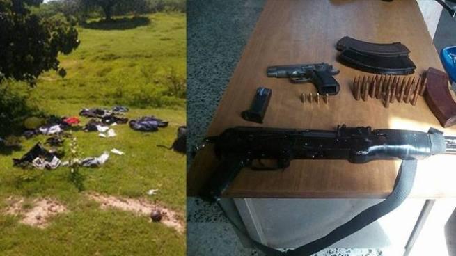 Enfrentamiento entre policías y pandilleros en La Unión deja el decomiso de varias armas de fuego
