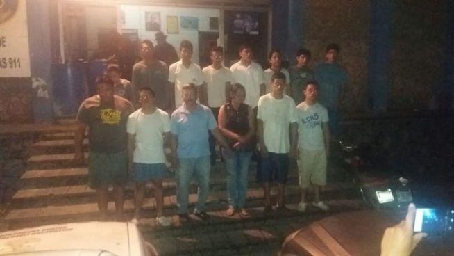 Fuerte operativo logra la captura de 16 delincuentes por el delito de privación de libertad