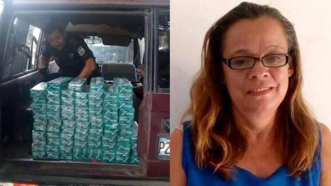 Capturan en Santa Ana a mujer que trasladaba cigarros escondidos en su carro