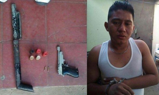 Arrestan a sujeto que portaba una pistola y un 'trabuco' en Ciudad Delgado