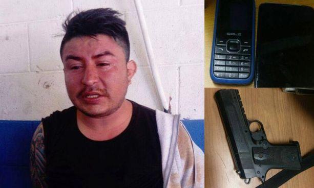 Capturan sujeto que asaltó a usuarios de la ruta 7-D con una pistola de balines