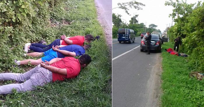 PNC captura a presuntos asaltantes durante una persecución en Aguilares