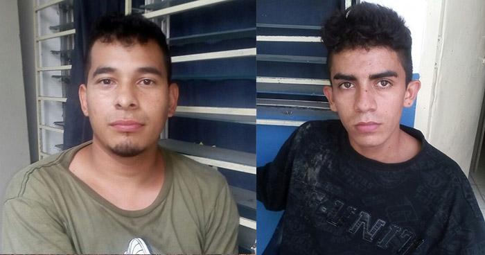 Policía captura en Mejicanos a dos sujetos por violencia y amenazas