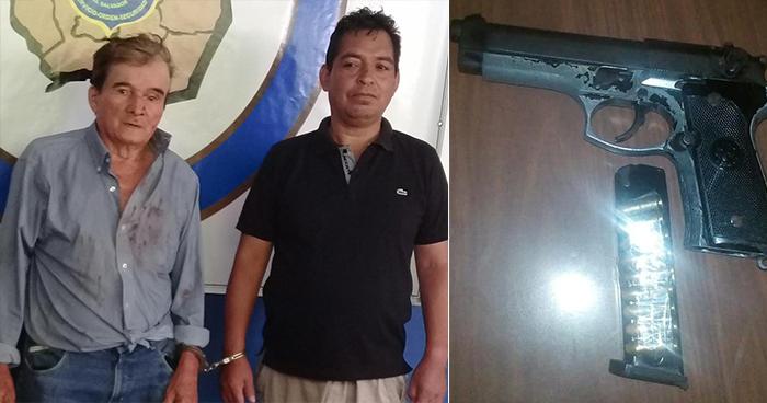 Caen en Morazán sujetos acusados por los delitos de portación ilegal de arma y lesiones