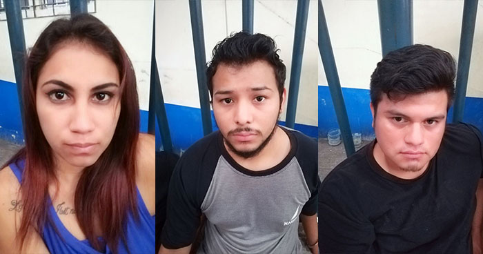 Policía captura en la capital a tres jóvenes por el delito de robo agravado