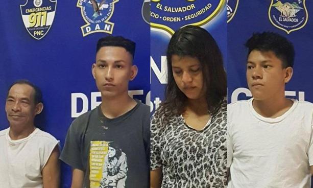 Capturan a cuatro sujetos por delitos relativos a extorsión, lesiones y armas en San Miguel