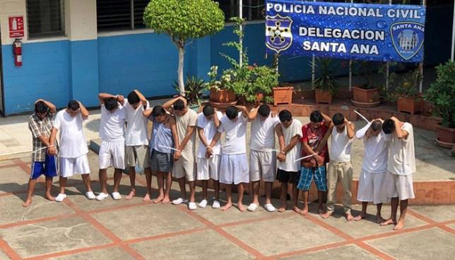PNC captura en Santa Ana a 14 sujetos acusados por diversos delitos