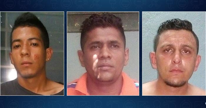 Policía atrapa en Soyapango a tres sujetos ligados a diferentes delitos