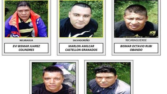 Envían a prisión a dos salvadoreños y tres nicaragüenses por traficar cocaína