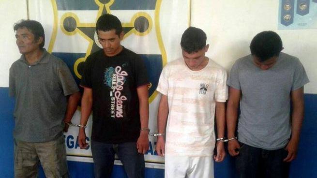 Capturan en Morazán a cuatro sujetos vinculados a diversos delitos