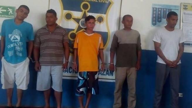 PNC captura a varios pandilleros por diferentes delitos en Morazán