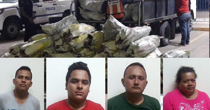 Capturan a contrabandistas de mercadería en la frontera La Hachadura