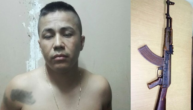Capturan en Ciudad Delgado a pandillero que portaba un arma de guerra