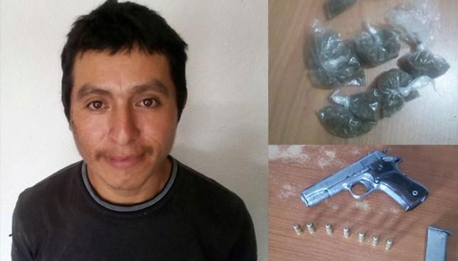 Policía captura armado y con droga a sujeto en Apaneca, Ahuachapán