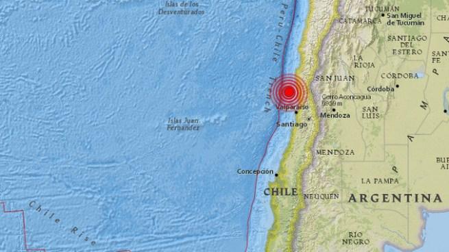 Un sismo de 5.9 sacude a Chile este lunes