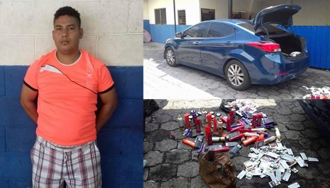 Policía atrapó en San Salvador a sujeto que portaba mercadería de dudosa procedencia
