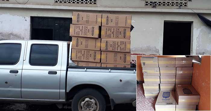 Incautan cajas de cigarros que ingresaron de contrabando en San Miguel