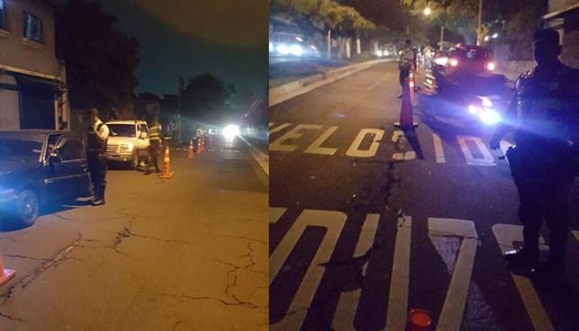 10 conductores fueron detenidos en San Salvador por manejar bajo los efectos del alcohol