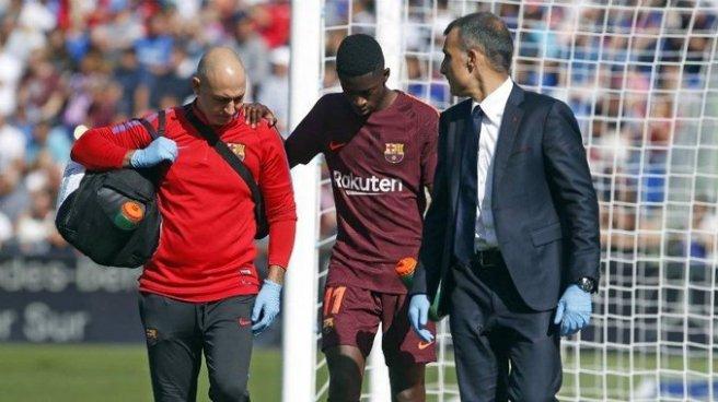 Dembelé el reemplazo de Neymar se perderá el resto del año por lesión