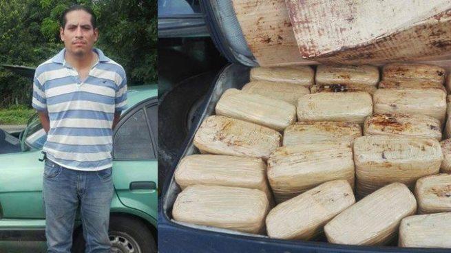 Detiene en frontera La Hachadura a sujeto que trasportaba una maleta llena de marihuana