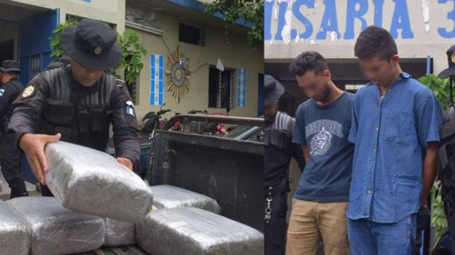 Detienen en Guatemala a sujetos que intentaban ingresar marihuana y cervezas