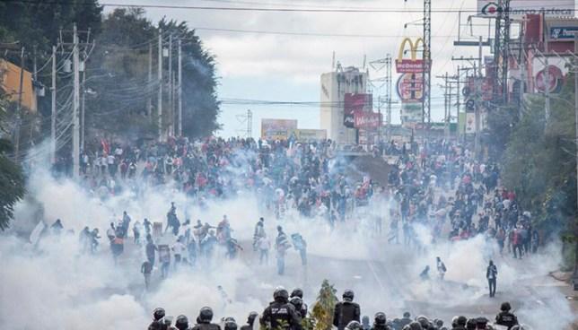 Ola de disturbios sacude a Honduras durante la toma de posesión de Juan Orlando Hernández