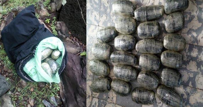 Incautan droga abandonada en la frontera San Cristóbal de Santa Ana