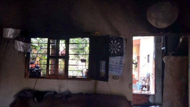 Incendio en vivienda de Sonsonate