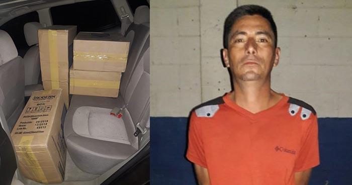Policías capturan a contrabandista de cigarros en San Salvador