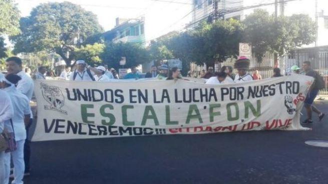 Sindicalistas protestan afuera del Hospital Bloom por exclusión del escalafón del presupuesto 2018