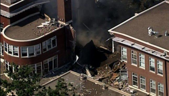 Explosión provoca que se derrumbe escuela de Minneapolis, EE.UU.