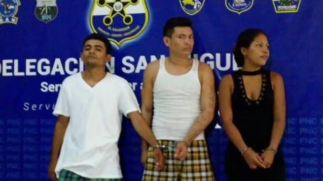 Capturan en San Miguel a tres presuntos extorsionistas