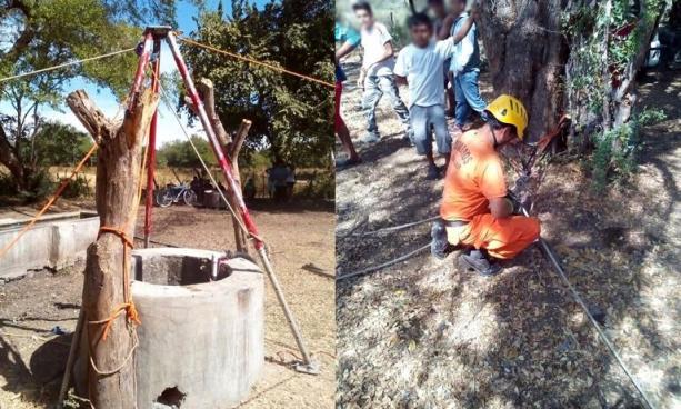 Mueren intoxicados dos hombres que limpiaban un pozo en San Miguel