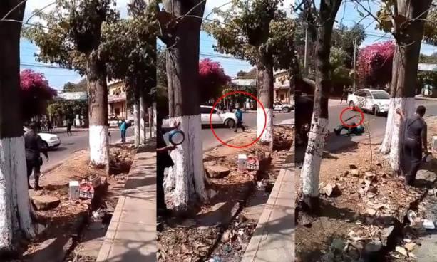 Ebrio ataca a un agente de la PNC con un machete y es neutralizado de un balazo en San Vicente