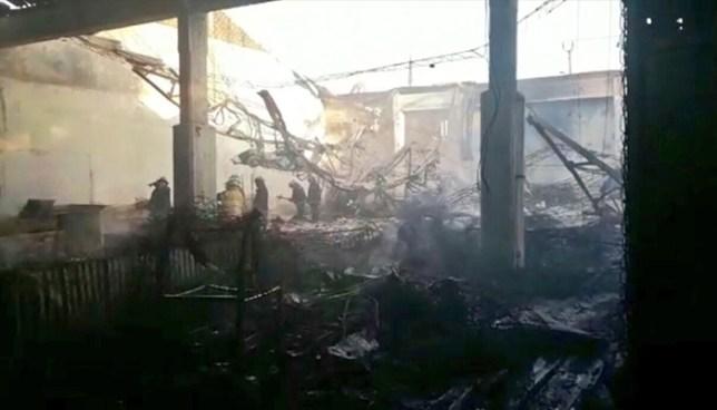 Incendio en mercado de Usulután deja al menos 100 puestos destruidos
