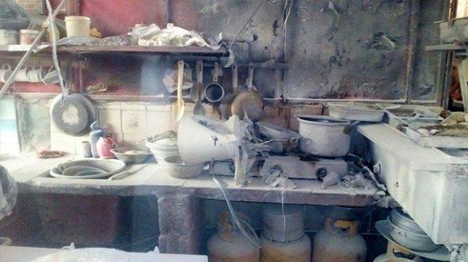 Incendio en comedor del Mercado El Ángel en Sonsonate deja mujeres lesionadas