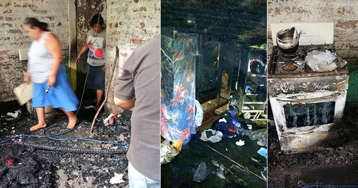 Explosión de foco provocó voraz incendio en una vivienda de Lourdes, Colón