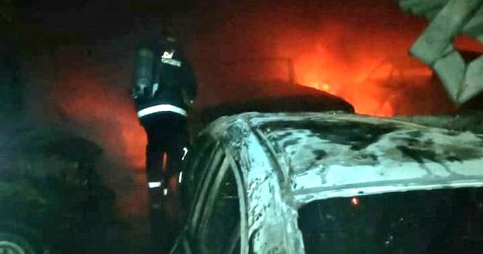 Silbador provoca incendio en taller en Cabañas