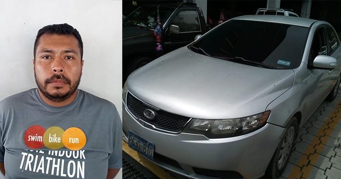 Atrapan en San Salvador a sujeto que se conducía en un vehículo con placas robadas